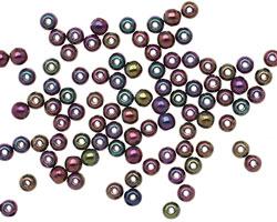 Czech Glass Iris Purple Round 3mm