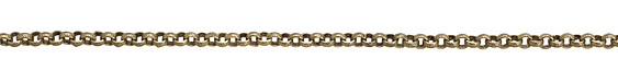 Antique Brass (plated) Textured Rollo Chain