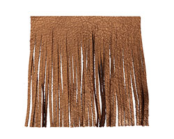 Antiqued Copper Leather Tassel Fringe 5 inch square