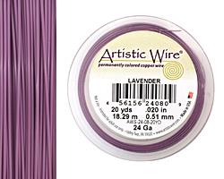 Artistic Wire Lavender 24 gauge, 20 yards
