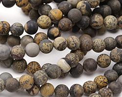 Artistic Stone (matte-dark) Round 8mm