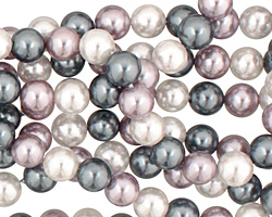 Winter Shell Pearl Mix Round 6mm