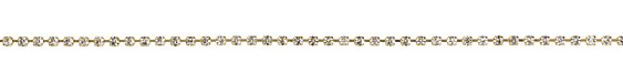 Gold (plated) Rhinestone Chain 3mm