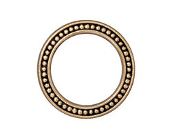 "TierraCast Antique Gold (plated) 1"" Beaded Ring 25mm"