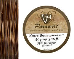 Vintaj Natural Brass Parawire 30 gauge, 180 feet