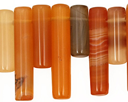 Carnelian (natural) Tube Drop 6x16-29mm