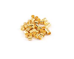 Gold (plated) Crimp Tube 3x3mm