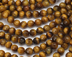 Tiger Eye Faceted Round 6mm