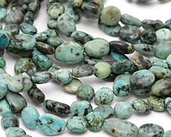African Turquoise (A) Flat Nuggets 6-10x6-7mm