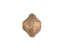 African Brass Roped (large hole) Saucer 14-15x17-18mm