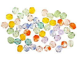 Czech Fire Polished Glass Summer Mix Round 4mm