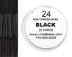 Parawire Black 24 gauge, 20 yards