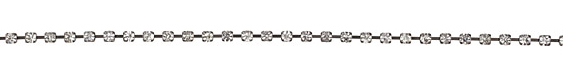 Gunmetal Rhinestone Chain 4mm