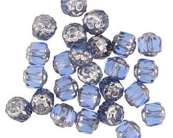 Czech Glass Transparent Sapphire Lantern 6mm