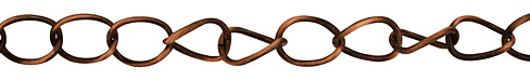 Antique Copper (plated) X-Large Oval Curb Chain
