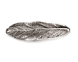 Nunn Design Antique Silver (plated) Large Leaf Bracelet Link 50x16mm