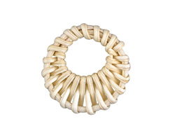 White Rattan-Style Woven Gypsy Hoop Focal 38-43mm