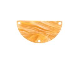 Zola Elements Honeycomb Acetate Half Circle Y-Connector 30x15mm