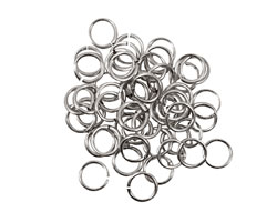 Artistic Wire Non-Tarnish Silver Chain Maille Jump Ring 5.56mm, 18 gauge