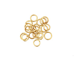 Satin Hamilton Gold (plated) Round Jump Ring 4mm, 21 gauge
