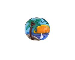 Grace Lampwork Palm Tree Sunset Lentil 15mm