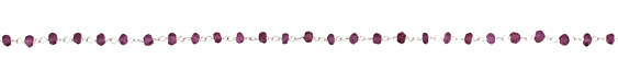 Amethyst Faceted Rondelle Silver (plated) Bead Chain