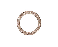 TierraCast Rhodium (plated) Large Hammertone Ring 19mm