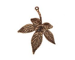 Ezel Findings Antique Copper Japanese Maple Leaf Link 35x30mm
