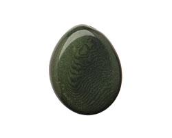 Tagua Nut Forest Green Flat Pebble 35-45x28-37mm