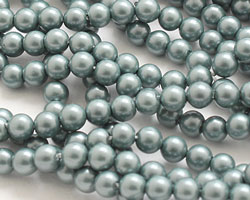 Slate Shell Pearl Round 4mm