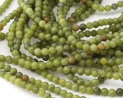 Green Serpentine Round 4mm