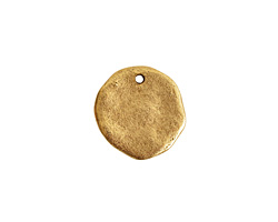 Nunn Design Antique Gold (plated) Large Organic Circle Tag 22x21mm