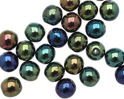 Czech Glass Iris Green Round 8mm