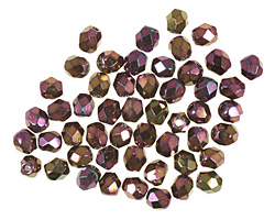 Czech Fire Polished Glass Iris Purple Round 3mm