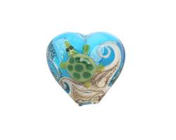 Grace Lampwork Turtle Cove Heart 19-20mm