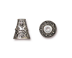 TierraCast Antique Silver (plated) Flowering Cone 11x12mm