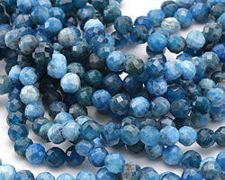 Pacific Blue Apatite Faceted Round 6mm