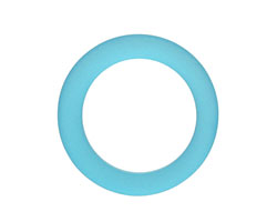 Pacific Blue Recycled Glass Ring 27mm