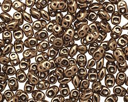 Bronze SuperDuo 2x5mm Seed Bead