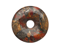 Red Creek Jasper w/ Pyrite Donut 50mm
