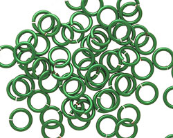Green Enameled Copper Round Jump Ring 7mm, 18 gauge