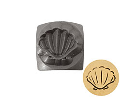 Clamshell Metal Stamp 6mm
