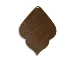 Vintaj Natural Brass India Detail Altered Blank 36.5x47.5mm
