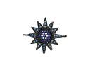 Storm Mix Pave CZ Gunmetal (plated) Starburst Focal Link 23x19mm