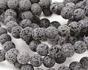 Lava Rock Unwaxed Round 12mm