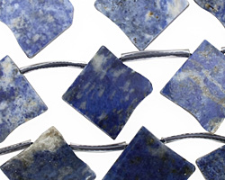 Lapis Flat Freeform Diamond Drop 19-20mm