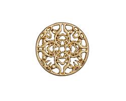 Zola Elements Matte Gold (plated) Mandala 7mm Flat Cord Slide 20mm