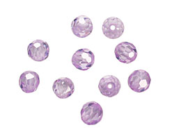 Lilac Faceted Round 4mm