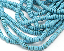 Turquoise Blue Magnesite Faceted Rondelle 4mm