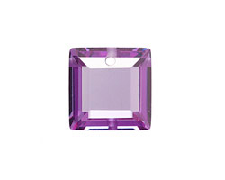 Lilac Faceted Square 18mm